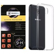 BrainBell SAMSUNG J7 PRO PREMIUM COMBO PACK OF TEMPERED GLASS SCREEN GUARD AND TRANSPARENT CASE