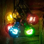 LED string lights filament multicoloured 5-bulb