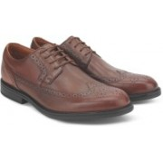 Clarks BeckfieldLimit Tan Leather Lace Up For Men(Tan)