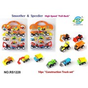 Siddhi Vinayak™Pull Back Vehicles, Mini Push Pull Back Car, 10 Pcs Assorted Construction Vehicles Toys, Kids Pull Back Racer Cars Toy Play Set, Vehicle Play Set for Children for Fun