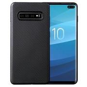 Samsung Galaxy S10+ Ultra Dunne TPU Case - Carbon Fiber - Zwart