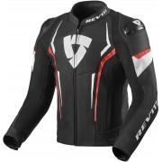 Rev'it! Jacket Glide Black/Neon Red 52