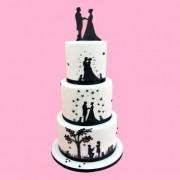 Sposi Torta e Matrimonio. Set di 9 stampi tagliapasta
