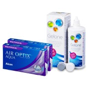 Air Optix Aqua Multifocal (2x3 лещи) + разтвор Gelone 360ml