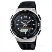 Casio AQ-S800W-1EVDF resistente deporte solar reloj-negro + plata (sin caja)