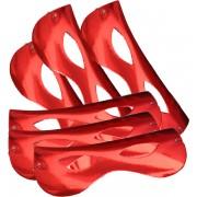 Papírszemüveg, fényes, piros 6 db/cs
