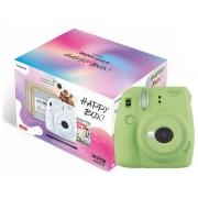 Fujifilm Kit Cámara Instantánea FUJIFILM Instax Mini 9 Happy Box (Lime Green - Obturación: 1/60 s - 2 x AA)
