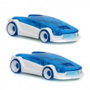 DIY mini ensamblo el juguete accionado agua del coche del agua de sal para el cabrito - azul (2PCS)