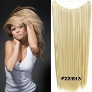 Flip in vlasy - 60 cm dlouhý pás vlasů - odstín F22/613 - Světové Zboží