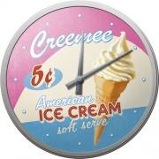 Ceas de perete - Ice Cream - Ø31 cm