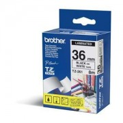 TZ Tape BROTHER 36mm BLACK ON WHITE FLEXIBLE ID