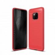 Huawei Mate 20 Pro karbon mintás tok - PIROS