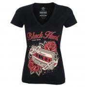 tee-shirt street pour femmes - OLD SCHOOL V - BLACK HEART - 010-0182-BLK