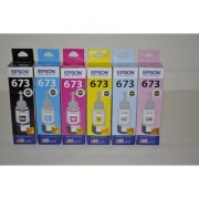 Original Epson T673 (Black/Cyan/Yellow/Magenta/Light Cyan/Light Magenta) Ink Cartridge