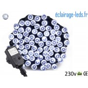 Guirlande LED 10M Blanc froid 100 led étanche IP44 230v. ref gl-11