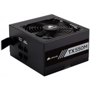 Sursa Corsair TX550M Gold, 550W, 120 mm, Semi-Modulara