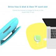 ER Aigo MP3 Player 203 Dual Color Macaroon Color Back Clip Design Portable Pebbles Shape For Young People Fingerprint Proof-blue