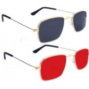 PekuNiary Aviator Sunglasses(Blue, Red)