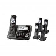 Teléfono Inalámbrico Quintuple Panasonic KX-TG585 Bluetooth-Negro