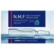 Dermal Shop Фольгированная коллагеновая маска для лица, с аминокислотами, витаминами, пептидами и натуральным увлажняющим комплексом (NMF), 1 шт.