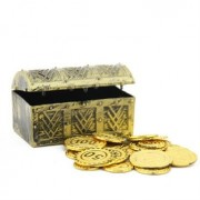 Treasure Chest With Gold Pirates Caribbean High Simulation Box