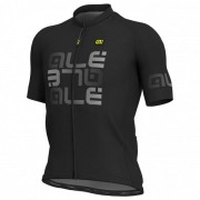 Alé - Mirror Jersey S/S Solid - Maillot vélo taille XXL, noir