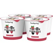 foodspring Porridge Proteine a Emporter Pack De 4 Fruits Des Bois