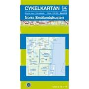 Fietskaart 16 Cykelkartan Norra Smålandskusten - Smaland noord   Norstedts