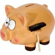 Pusculita porcusor cu ciocan clay money bank 20x15x15 cm