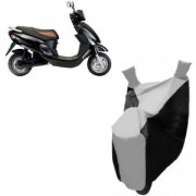 AUTOAGE Premium SILVER with BLACK Bike Body Cover For Hero Electric Bikes Electric Photon