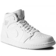 Cipő NIKE - Air Jordan 1 Mid 554724 104 White/Pure Platinum/White