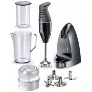 Mixer vertical Bamix Selection, 2 Viteze, Reglare automata, 4 Lame, Vas 1 l, Vas 400 ml, 200 W (Negru)