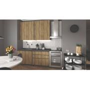 Halmar Rovná kuchyně idea - 180 cm (dub wotan/šedá)