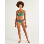 Boden Sattes Smaragdgrün, Frangipani-Muster Eze Bikinihöschen zum Umschlagen Damen Boden, 46, Green