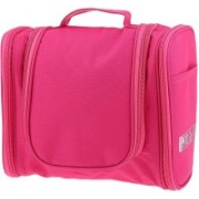Royaldealshop TOTE Make-up Cosmetic Carry Case Hanging Organizer Travel Toiletry Kit(Pink)