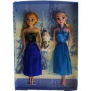 Set papusi Frozen Anna Elsa si Olaf 33 cm varsta 3 ani+ multicolor