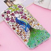 Huawei P8 Lite (2017) / P9 Lite (2017) Noctilucent IMD Peacock Pattern Soft TPU Back Case Protector Cover