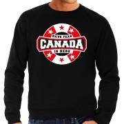 Bellatio Decorations Have fear Canada is here supporter trui / kleding met sterren embleem zwart voor heren M - Feesttruien