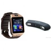 Zemini DZ09 Smart Watch and Gibox G6 Bluetooth Speaker for SONY xperia z3 dual(DZ09 Smart Watch With 4G Sim Card Memory Card| Gibox G6 Bluetooth Speaker)