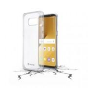 Калъф за Samsung Galaxy S8 Plus, страничен протектор с гръб, гумен, Cellular Line Clear Duo, прозрачен