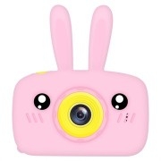 Cartoon HD Camera voor Kinderen met 3 Spellen - 12MP - Konijn / Roze
