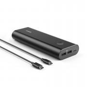 0 Anker PowerCore+, USB-C power bank, 20100 mAh Power IQ, Svart