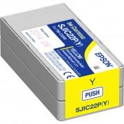 Tinta Epson SJIC22P(Y), Yellow, Epson C33S020604, za TM-C3500, Original