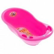 Cadita copii plastic 102 cm Safari roz cu senzor de temperatura
