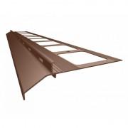 K20 Profil aluminiowy balkonowy 2.0m brązowy RAL 8019 - listwa balkonowa okapnikowa brązowa