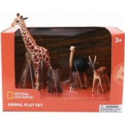 Set 4 figurine National Geographic Girafa Elefantel Strut si Antilopa