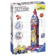 Puzzle 3D Big Ben Minions 216 Piese.Piesele sunt din plastic si produse in Germania