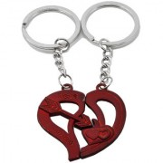 Faynci Couple Valentine Day Gift I LOVE YOU Red Heart Keychain
