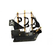 "Wooden Caribbean Pirate Ship Model Magnet 4"" Pirates Of The Caribbean Toy S"