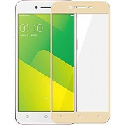 Kartik Full Covred Tempered Glass Full Screen Color Glass 2.5d For Oppo A37 - Golden